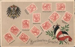 "Briefmarken-Sprache ""Stamp Language"""