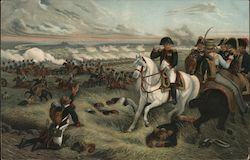 Napoleon On White Horse At The Battle Of Wagram
