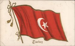 Flag of Turkey Postcard