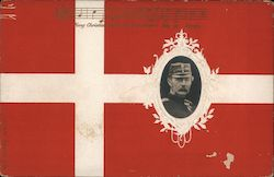 A Military Man on a Flag