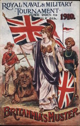 Royal Naval and Military Tournament June 20th to July 6th, 1910- Britannia's Muster