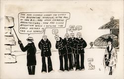 Comic: US Sailors Sightseeing, Asian