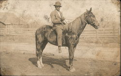 Young Black Man on Horse