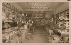 T. Flannery's General Store Interior Postcard