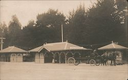 Del Monte Depot and Man with Horses and Cart