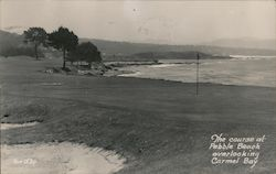 The Course at Pebble Beach, Overlooking Carmel Bay Postcard