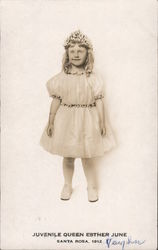 Juvenile Queen Esther June 1912 Postcard