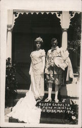 Queen Carolyn and Prime Minister, May 1912 Postcard