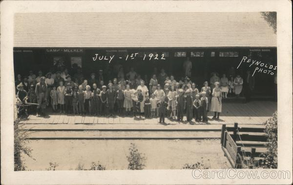Camp Meeker July-1st 1922 California Reynolds Photo