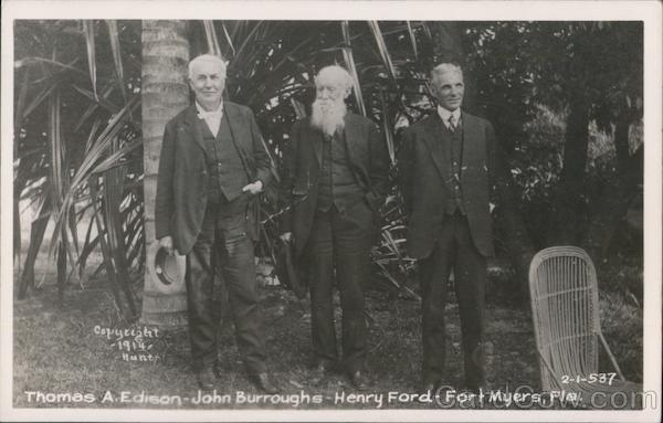Thomas A. Edison, John Burroughs, and Henry Ford Fort Myers Florida