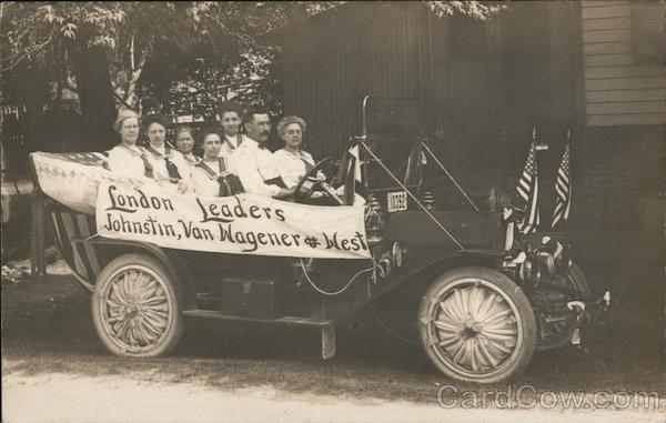 London Leaders, Johnstin Van Wagener & West - Women Riding in a Car