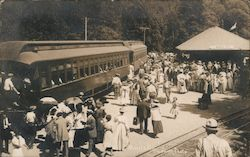 Arrivals at the Monte Rio Depot Postcard
