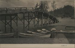 Bridge across Russian River at Monte Rio 1910