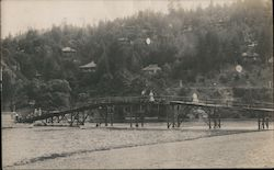 Walking Bridge Over the Russian River Postcard