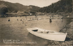 Bathing Beach, Russian River Terrace Postcard