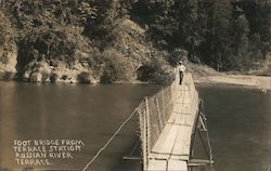 Foot Bridge From Terrace Station - Russian River Postcard