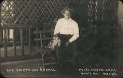 Bob Smyth and Russell. Hotel Russell Grill Postcard