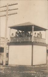 Soledad Firehouse and Bandstand Postcard
