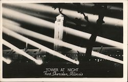 Tower at Night Postcard