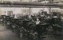 Women Working in a Factory in Germany, Machinery