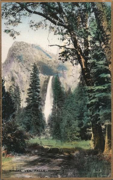 Bridal Veil Falls Yosemite California