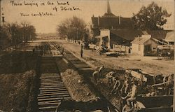 Railroad Track Laying in the Heart of Stockton