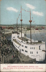 Cabrillo Ship Cafe Venice, CA Postcard