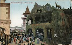 Scenic Railway at Venice California Postcard