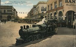 Miniature Railway, Windward Avenue Venice, CA Postcard