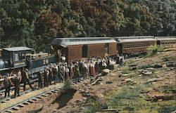 The New Route to the Yosemite on the Yosemite National Railroad Postcard
