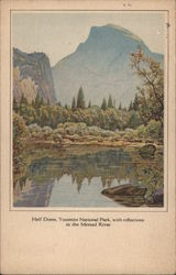 Half Dome, Yosemite National Park, With Reflection in the Merced River