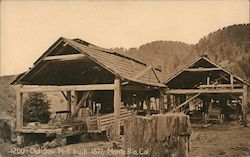 Old Saw Mill Built 1877 Postcard