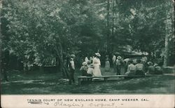 Tennis Court of New England Home, Camp Meeker Postcard