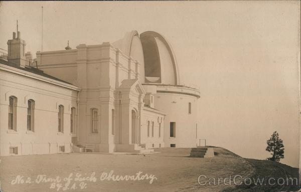 Front of Lick Observatory San Jose California