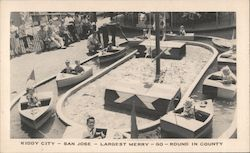 Kiddy City-San Jose-Largest Merry-Go-Round in county Postcard