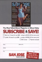 San Jose Magazine Subscription Card