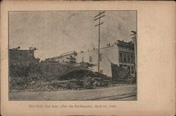 Elks Hall after 1906 Earthquake