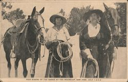 Fair riders of the Range at the Round-up. San Jose. July 1-2-3-4