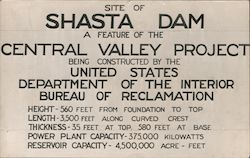 Site of the Shasta Dam