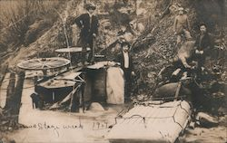 Stagecoach Wreck 1907 Deadwood Creek