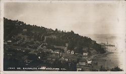View of City From Boulevard Postcard