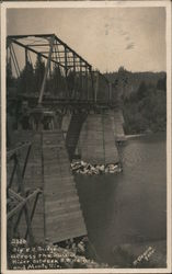 Big R.R. Bridge Across the Russian River Between R.R. Heights and Monte Rio Postcard