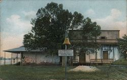 Old Home of Don Pio Pico, Mission Bell Postcard