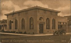 Bank of Campbell California Postcard