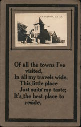 Campbell, Calif. Poem California Postcard