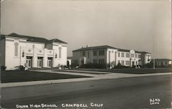 Union High School Campbell, CA Laws Postcard