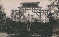 Women on a Stage of Flowers