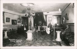 Interior Masonic Lodge & Odd Fellows Hall, Since 1854 Postcard