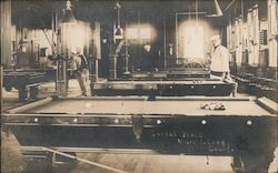 Social Hall, Mare Island, Pool Tables Postcard