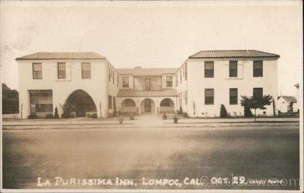 La Purissima Inn Oct. 1929 Lompoc California Dakes Photo